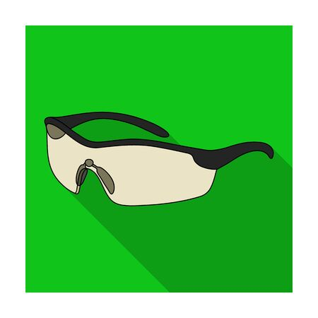 wear mask: Protection for the eyes of cyclists from falling rocks.Cyclist outfit single icon in flat style vector symbol stock illustration.