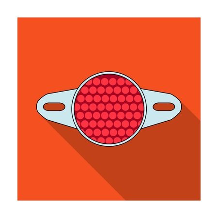 r transportation: Reflector for cyclists. Icon for better visibility on the road.Cyclist outfit single icon in flat style vector symbol stock illustration. Illustration