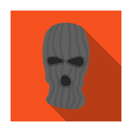 rom: Mask to close the face of the offender from witnesses.Prison single icon in flat style vector symbol stock illustration. Illustration