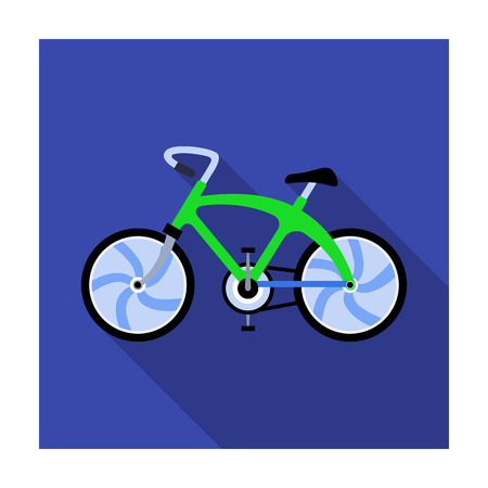 A sports bike for a quick ride down the road. Bicycle ecological economical transport.Transport single icon in flat style vector symbol stock illustration.