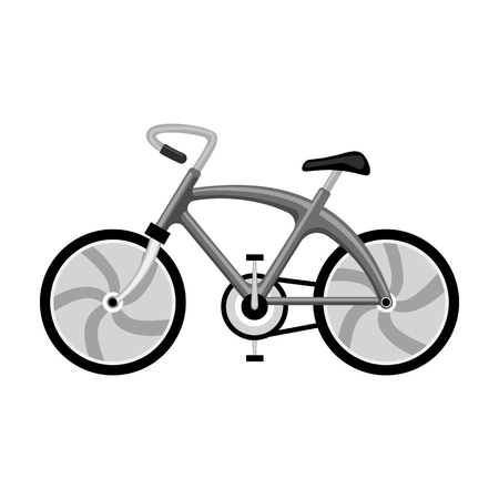 A sports bike for a quick ride down the road. Bicycle ecological economical transport.Transport single icon in monochrome style vector symbol stock illustration.