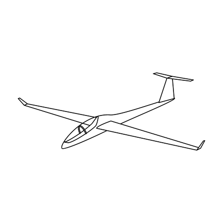 The orange fighter. High speed airplane for one person.Transport single icon in outline style vector symbol stock illustration.