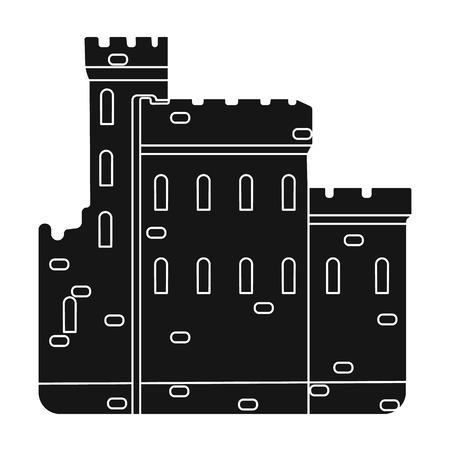 Concrete castle Illustration