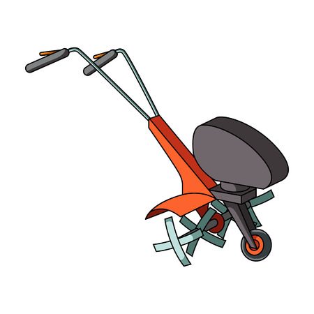 mowers: Mowers for cutting grass and lawn. Agricultural machinery for the court.Agricultural Machinery single icon in cartoon style vector symbol stock illustration.