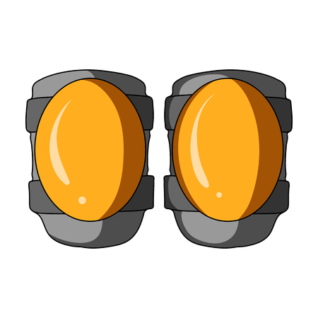 Protective knee pads for cyclists. Protection for athletes.Cyclist outfit single icon in cartoon style vector symbol stock illustration.
