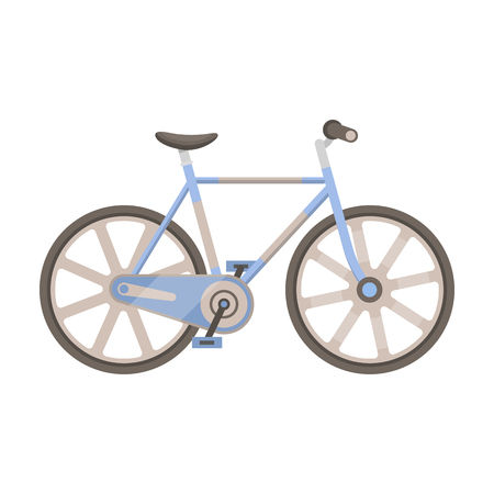 Sport bike racing on the track. Speed bike with reinforced wheels.Different Bicycle single icon in cartoon style vector symbol stock illustration. Illustration