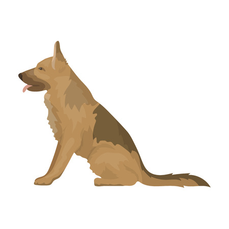 Police dog for detaining criminals. Trained shepherd for prison.Prison single icon in cartoon style vector symbol stock illustration.