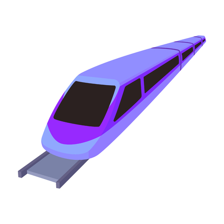 High speed train for transporting people over long distances. railway transport.Transport single icon in cartoon style vector symbol stock illustration.