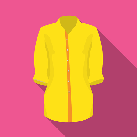 Stylish orange shirt for women. Women dressed in ceremonial clothes.  Woman clothes single icon in flat style vector symbol stock illustration. Illustration