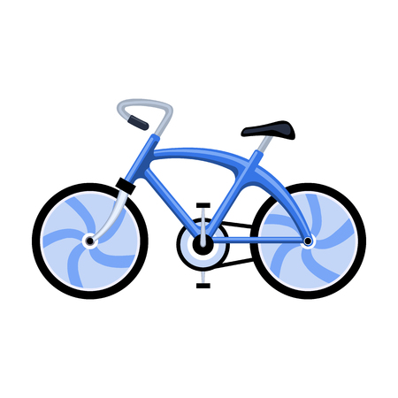A sports bike for a quick ride down the road. Bicycle ecological economical transport.Transport single icon in cartoon style vector symbol stock illustration.