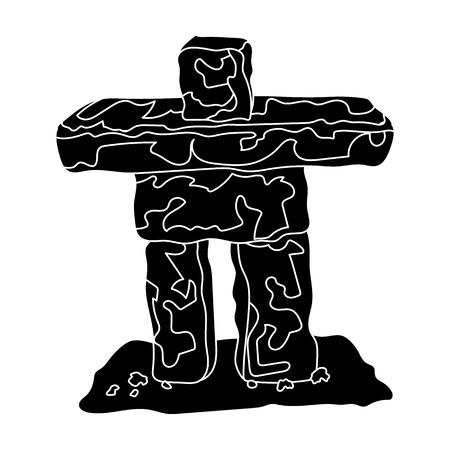 Stone sculpture in canada. Canada single icon in black style vector symbol stock illustration web. Illustration