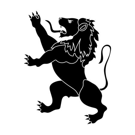 Golden lion symbol of belgium.The dark Belgian wolf. Belgium single icon in black style vector symbol stock illustration.