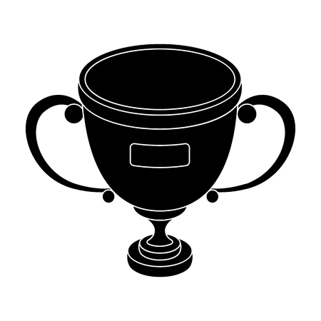 Gold cup of the winner.Fans single icon in black style vector symbol stock illustration. Illustration