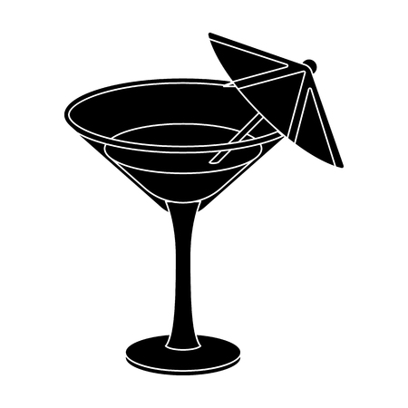 Glass with a cocktail.Party and parties single icon in black style vector symbol stock illustration. Illustration