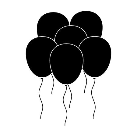 enable: Black enable balls.Party and parties single icon in black style vector symbol stock illustration.