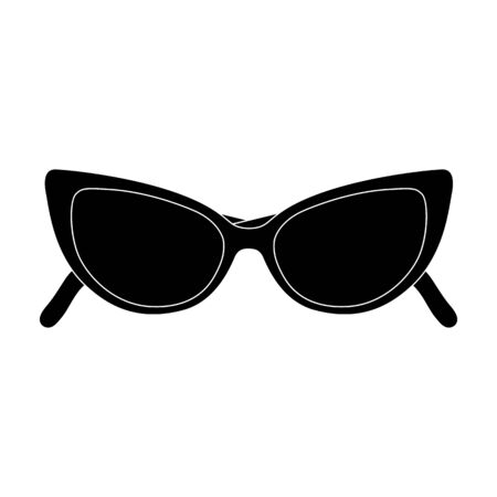 eyewear: sunglasses for protection from the sun.Summer rest single icon in black style vector symbol stock illustration.