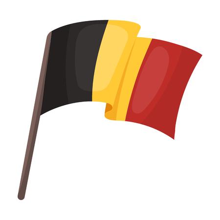 geolocation: The Belgian flag.The dark Belgian wolf. Belgium single icon in cartoon style vector symbol stock illustration.