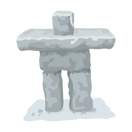 Stone sculpture in canada. Canada single icon in cartoon style vector symbol stock illustration web.