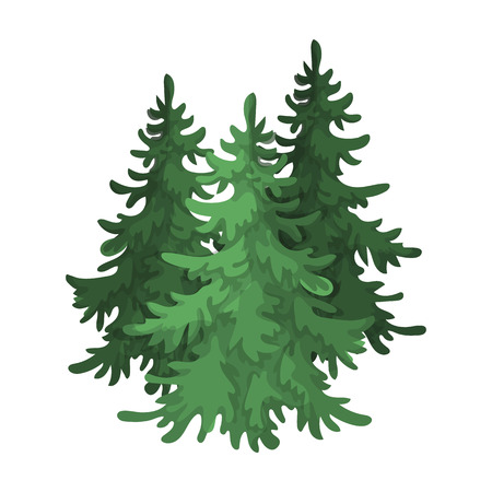 Canadese sparren. Canada enkele icoon in cartoon stijl vector symbool stock illustratie web. Stock Illustratie