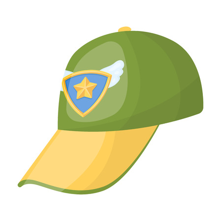 Cap football fan.Fans single icon in cartoon style vector symbol stock illustration.