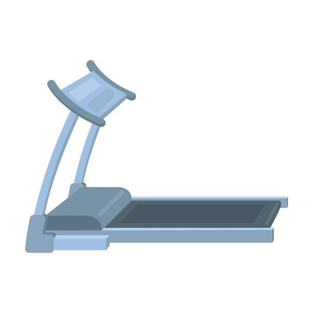 Treadmill. Running simulator for training in the gym.Gym And Workout single icon in cartoon style vector symbol stock illustration.