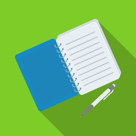 crime solving: Paper notebook detective. Notepad to record readings, to solve the crime.Detective single icon in flat style vector symbol stock illustration. Illustration