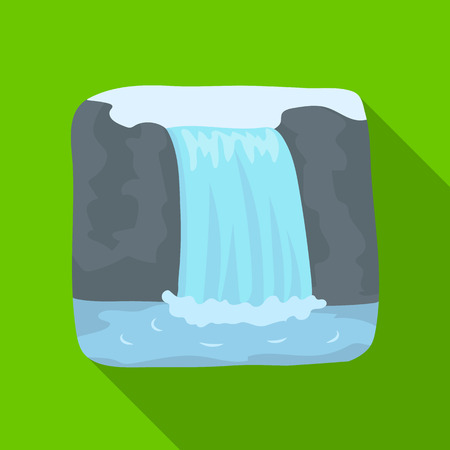 Canadian waterfall. Canada single icon in flat style vector symbol stock illustration web.