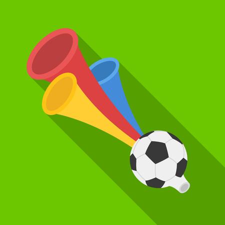 Trumpet football fan.Fans single icon in flat style vector symbol stock illustration.