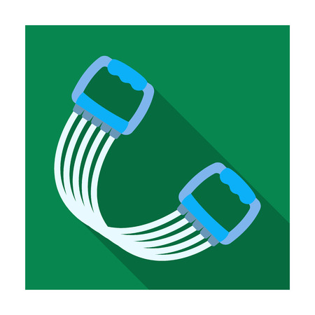 expander: Simulator for hands on a spring mechanism.Gym And Workout single icon in flat style vector symbol stock illustration.