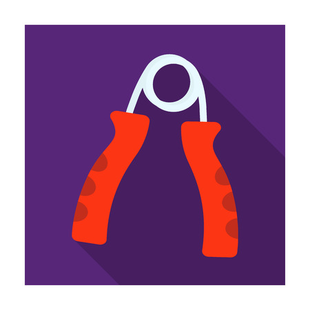 Simulator for hand on a spring mechanism.Gym And Workout single icon in flat style vector symbol stock illustration. Illustration