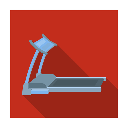 Treadmill. Running simulator for training in the gym.Gym And Workout single icon in flat style vector symbol stock illustration.