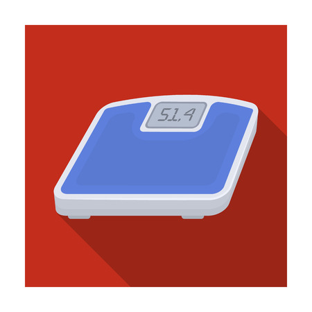 The scales in the gym for the weighing.Gym And Workout single icon in flat style vector symbol stock illustration.