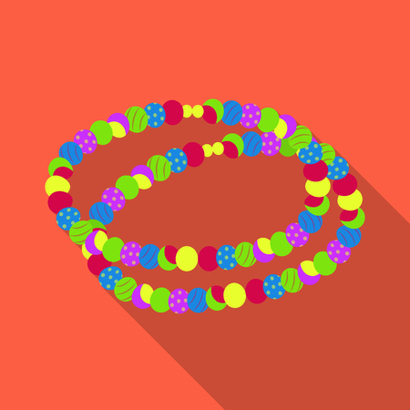 Colored beads.Hippy single icon in flat style vector symbol stock illustration web. Illustration