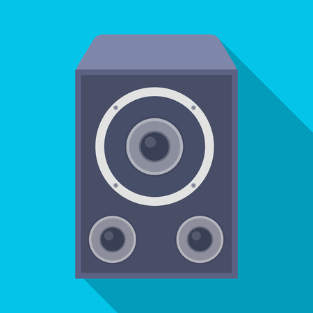 subwoofer: Subwoofer for loud music.Party and parties single icon in flat style vector symbol stock illustration. Illustration