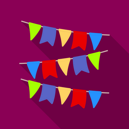 outdoor blank billboard: Festive colorful ribbons. Party and parties single icon in flat style vector symbol stock illustration.