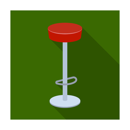 High chair seat near the bar. Bary chair to relax. Pub single icon in flat style vector symbol stock illustration.