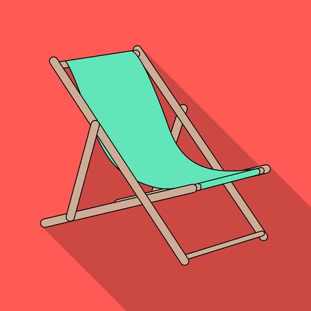 Der Sitz zum Sonnenbaden am Strand.Sommer Rest einzigen Symbol in flachen Stil Vektor-Symbol stock Illustration.
