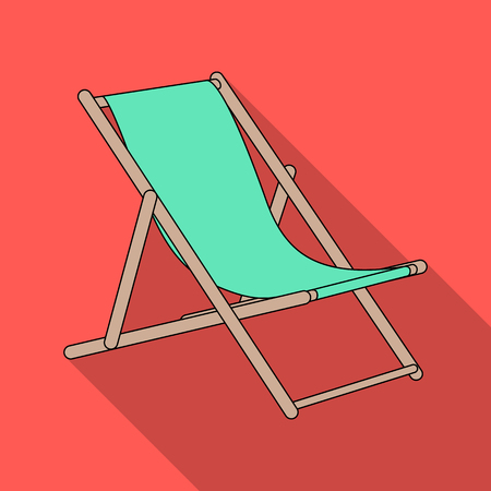 The seat for sunbathing on the beach.Summer rest single icon in flat style vector symbol stock illustration.