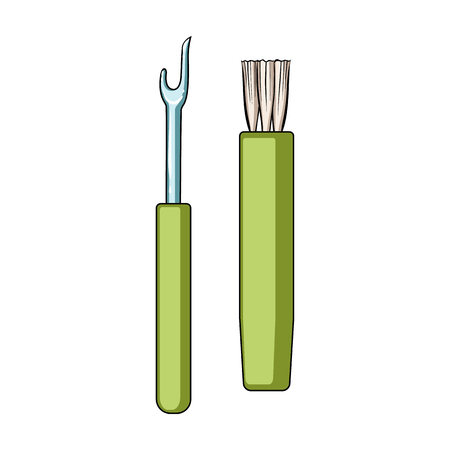 Tools for sewing.Sewing or tailoring tools kit single icon in cartoon style vector symbol stock illustration.