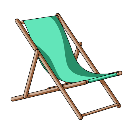 The seat for sunbathing on the beach.Summer rest single icon in cartoon style vector symbol stock illustration.