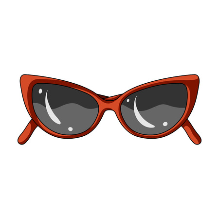 sunglasses for protection from the sun.Summer rest single icon in cartoon style vector symbol stock illustration.