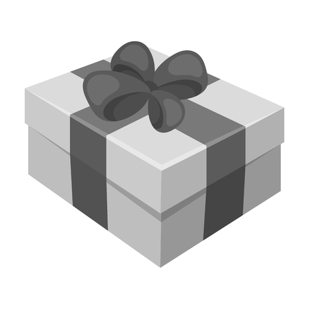 Gift wrapping for Easter. Easter single icon in monochrome style vector symbol stock illustration. Illustration