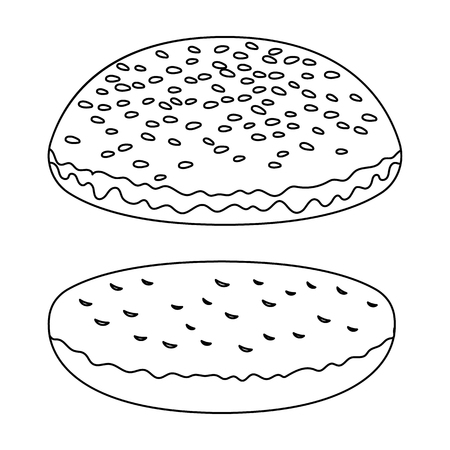 Burger roll.Burgers and ingredients single icon in outline style. Ilustração