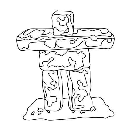 Stone sculpture in canada. Canada single icon in outline style vector symbol stock illustration web. Illustration
