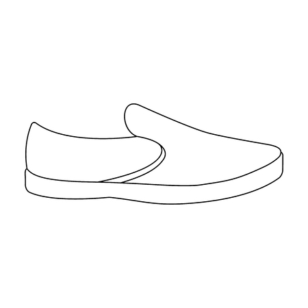 ar: Blue men summer espadrilles . Summer comfortable shoes on the bare feet for everyday wear.Different shoes single icon in outline style vector symbol stock illustration.