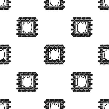 law breaker: Prison escape pattern in black style.