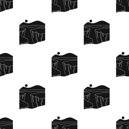 Grand Canyon pattern in black style. Illustration
