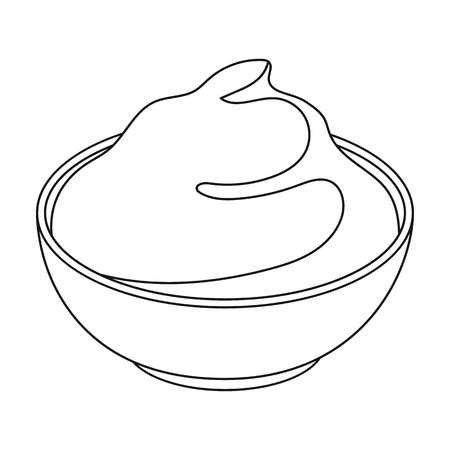 sour cream: Mascarpone.Different kinds of cheese single icon in black style vector symbol stock illustration web. Illustration