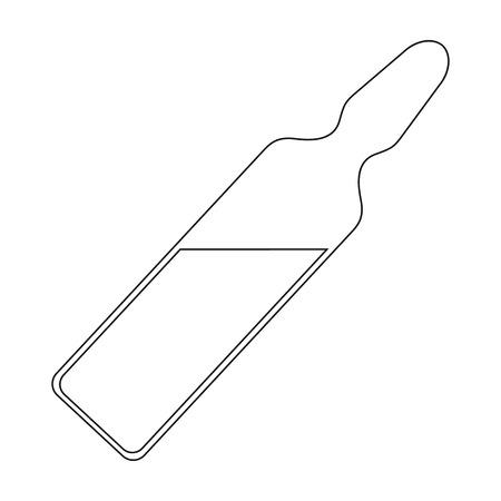 Ampoule with medicine.Medicine single icon in black style vector symbol stock illustration web. Vettoriali