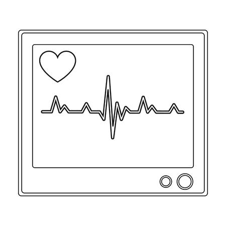 stress test: Medical monitor.Medicine single icon in black style vector symbol stock illustration web.